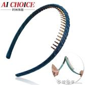 時尚氣質韓國手工縫制頭飾 帶齒細邊發箍壓發碎花女頭箍發卡飾品 西城故事