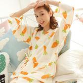 日式睡衣女春夏季長袖和服薄款兩件套甜美可愛居家服套裝   LannaS