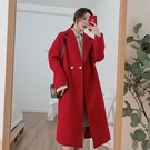 中長款呢子外套女2019秋冬新款韓版寬松赫本風時尚氣質毛呢大衣
