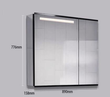 【 麗室衛浴】 美國 KOHLER活動促銷  MaxiSpace LED浴室置物櫃K-96107T-NA  89*76.6*15.8CM 數量有限