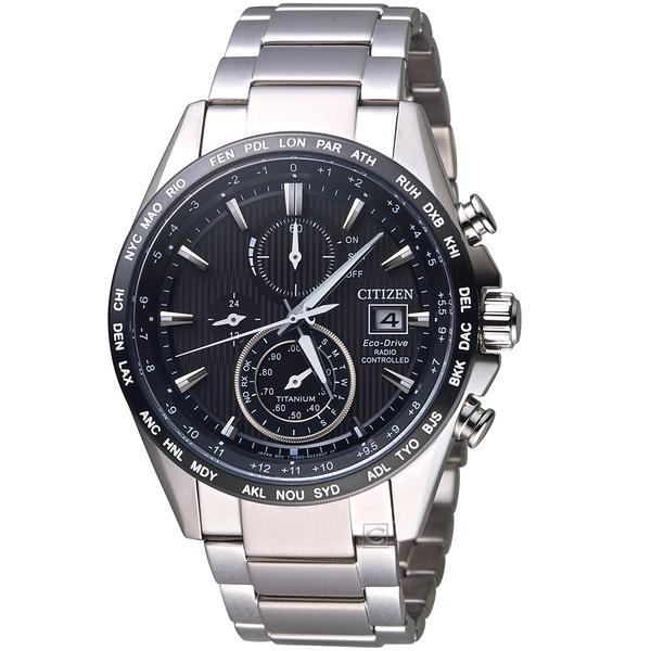 星辰CITIZEN GET'S系列鈦金紳士電波計時腕錶 AT8154-82E