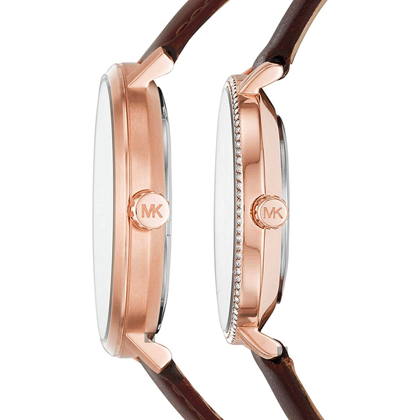 送禮推薦 Michael Kors MK Pyper 紐約時尚對錶-白/42+33mm MK2830