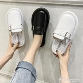 春夏新款拖鞋女外穿時尚百搭平底懶人皮帶扣包頭半拖鞋大頭娃娃鞋 黛尼時尚精品