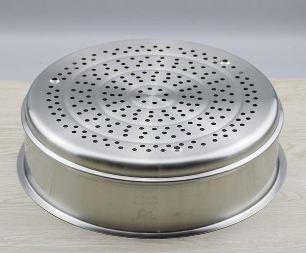 304不銹鋼蒸籠蒸架蒸鍋蒸格蒸盤蒸屜大蒸籠蒸魚蒸包子32cm