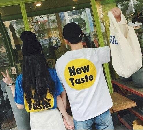FINDSENSE MD 韓國 潮 男 時尚 休閒 圓領 情侶裝 特色字母印花