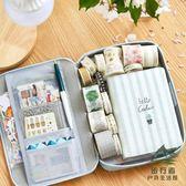 韓國帆布筆袋 簡約小清新大容量鉛筆袋 可愛多功能文具盒【步行者戶外生活館】