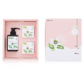 麻豆區農會柚花滋養禮盒:柚花豐盈修護洗髮精+柚花淨白潔膚皂2塊