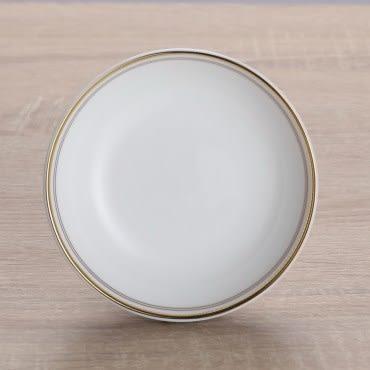 HOLA home 艾勒琴骨瓷飯盤7.5吋 棕白