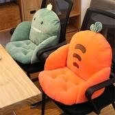坐墊腰靠坐墊地上靠墊一體地板墊子日式懶人榻榻米椅墊辦公室久坐靠背 聖誕交換禮物