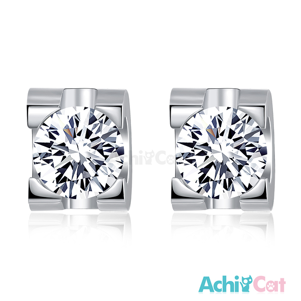 AchiCat 鋼耳環 歡樂世界 耳針式 銀色款 *一對價格* G5027