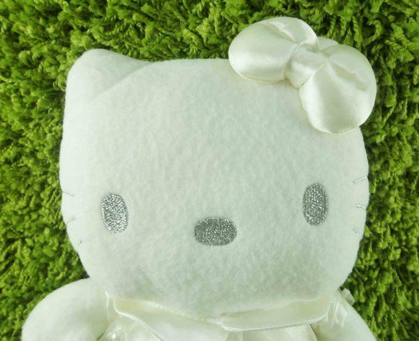 【震撼精品百貨】Hello Kitty 凱蒂貓~KITTY絨毛娃娃-白紗裝扮-珠珠-M