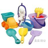 軟膠沙灘玩具套裝兒童洗澡玩具小孩戲水挖沙子寶寶鏟子沙漏工具 1件免運
