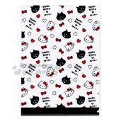 〔小禮堂〕Hello Kitty x NYA L型文件夾《白.大臉.滿版》資料夾.L夾.檔案夾 4714581-01556
