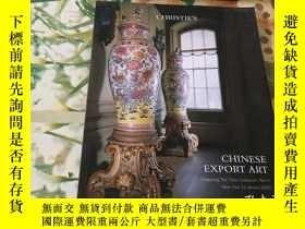 二手書博民逛書店CHRISTIES罕見CHINESE EXPORT ART 2020年(瓷器)Y204356 CHRISTIE