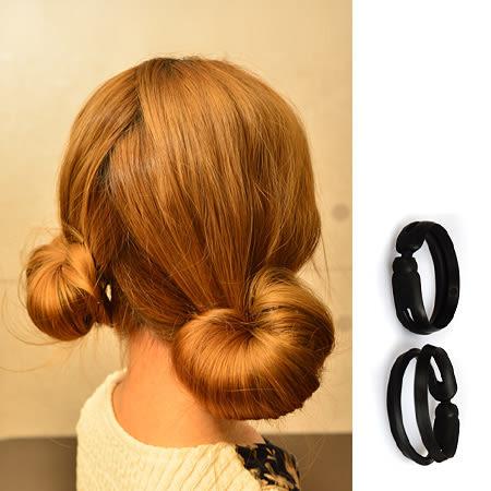 甜美可愛蘑菇頭盤髮器(小款2入) 花苞頭 日系丸子頭 包包頭 頭飾 髮飾