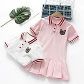 女童洋裝夏裝新款洋氣寶寶polo裙衫中小兒童純棉短袖裙子潮 夏季狂歡