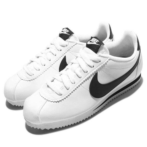 NIKE 男女WMNS CLASSIC CORTEZ LEATHER 經典復古阿甘鞋(滑皮) -男女款-  NO.807471101