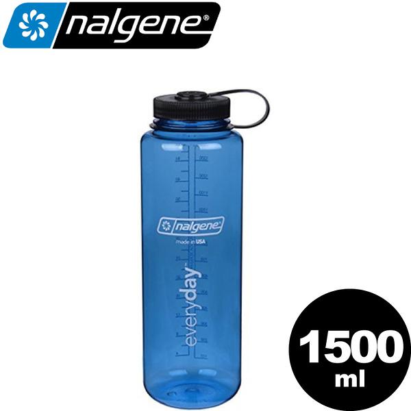 【Nalgene 美國 寬嘴壺-1.5L《灰藍》】682009-0570/運動水壺/休閒壼/隨身瓶