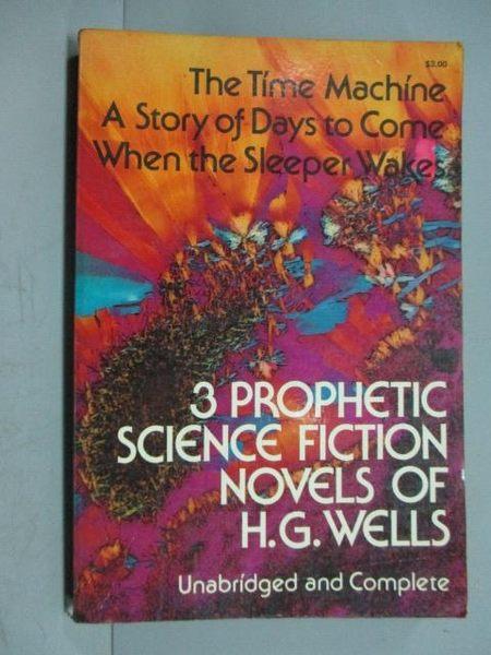 【書寶二手書T6/原文小說_IOH】3 Prophetic Science Fiction Novel…