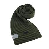 【南紡購物中心】MICHAEL KORS縮寫LOGO針織圍巾-軍綠