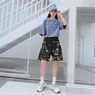 【Charm Beauty】韓版 運動短褲 女夏 闊腿 大碼胖mm 高腰 顯瘦 沙灘 跑步 熱褲 寬鬆 休閑 睡褲