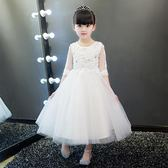 兒童禮服公主裙花童女童婚紗裙蓬蓬紗鋼琴演出服主持人晚禮服白夏   LannaS