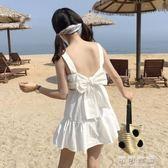 夏季女裝韓版後背綁蝴蝶結露背無袖小洋裝擺裙裙子 可可鞋櫃