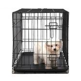 寵物籠 怡親寵物可折疊鐵絲籠小型犬泰迪狗籠子中大型犬金毛狗糧貓咪籠子 MKS免運