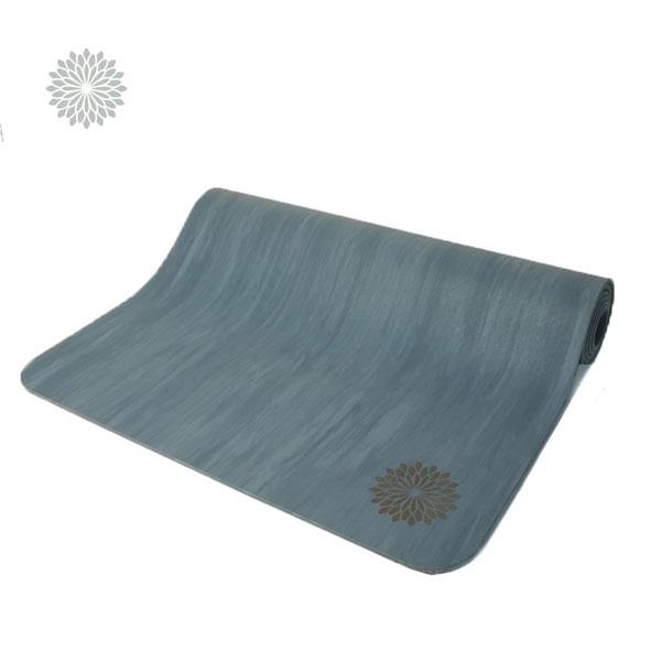 easyoga 瑜珈墊 天然橡膠雲彩瑜伽墊 5.5mm - 灰藍色