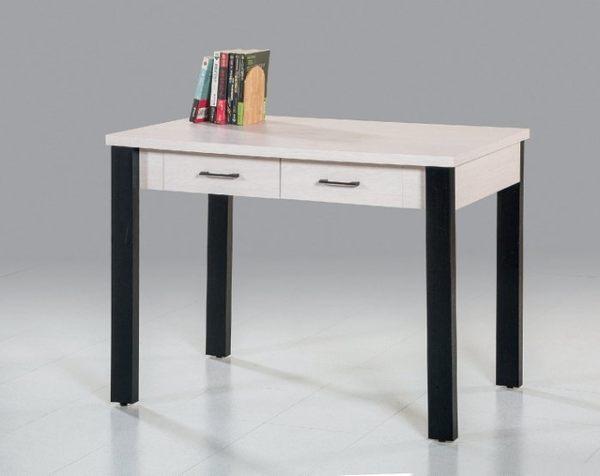 【新北大】✵P756-5 尼可拉3.5尺白金絲木書桌(17購)