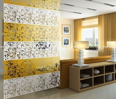 6色【雕花屏風】DIY創意吊掛式時尚磨砂裝飾壁貼(客廳.玄關.辦公室.隔間適用)