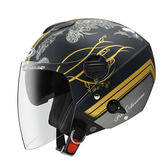 ZEUS 瑞獅安全帽,202FB,T49/消光黑金