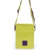 Petite Jolie  字體塗鴉背帶果凍相機包-黃/紫