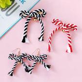 現貨-配件-雙色編織流蘇繩鈴鐺髮夾耳環 Kiwi Shop奇異果1031【SVE3093】