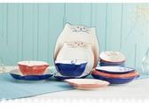 兒童餐具景德鎮日式萌喵 純手繪家用大湯碗盤子創意卡通兒童小貓咪餐具 免運 交換禮物