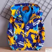 兒童裝男童沖鋒衣2019新款洋氣可拆卸三合一春秋款加絨加厚外套潮 歐韓時代