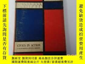 二手書博民逛書店CIVICS罕見IN ACTION CALIFORNIA STA