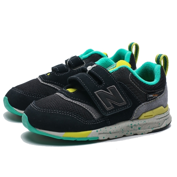 NEW BALANCE NB 997H 黑 綠黃 麂皮 黏帶 慢跑鞋 童鞋 中童 (布魯克林) PZ997HCX