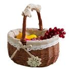 野餐籃水果籃藤編購物籃手提籃