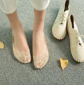 夏季韓國蕾絲女隱形襪矽膠防滑超薄短船襪yhs701【123休閒館】