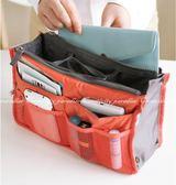 【雙拉鍊包中號】BAG IN BAG雙層超大加厚手提式收納包 袋中袋 包中包 多格收納袋 手提包