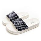 PLAYBOY 摩登夏日 電繡兔頭休閒拖鞋-白藍(YT615)