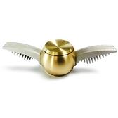 創意金色飛賊純銅指尖陀螺會飛的的丘比特翅膀陀螺指尖減壓玩具