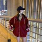 連帽外套 加絨連帽衛衣女寬鬆秋冬季韓版慵懶風休閒拉鍊開衫加厚外套ins潮 曼慕