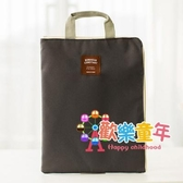補習袋 韓國簡約純色手拎多功能多層A4文件袋拉鍊手提包牛津帆布補習包 3色