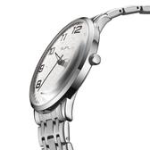 手錶老人大數字表盤石英鋼帶手錶中老年人男女款情侶媽媽商務防水夜光 聖誕節