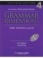 二手書博民逛書店《Grammar Dimensions: Form, Meaning and Use (Platinum Edition 4)》 R2Y ISBN:0838402860