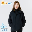 UV100 防曬 抗UV 兩件式三合一防潑保暖衝鋒衣-女