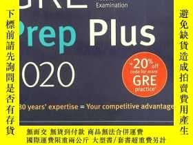 二手書博民逛書店GRE罕見Prep Plus 2020:Practice Tes