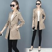 棒球外套 風衣女中長款2020春秋季新款韓版寬鬆薄款大衣氣質小個子流行外套 開春特惠